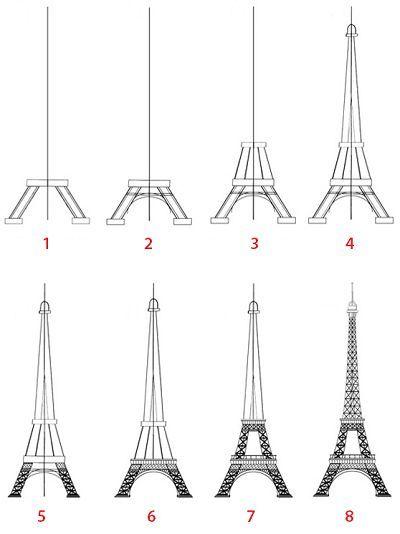 Bildergebnis Fur Eiffel Tower Drawing Sketch Simple Eiffel Tower Drawing Art Drawings Eiffel Tower Painting