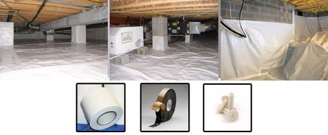 Crawl Space Encapsulation Vapor Barriers For Your Next Job With Images Diy Crawlspace Crawlspace Crawl Space Encapsulation