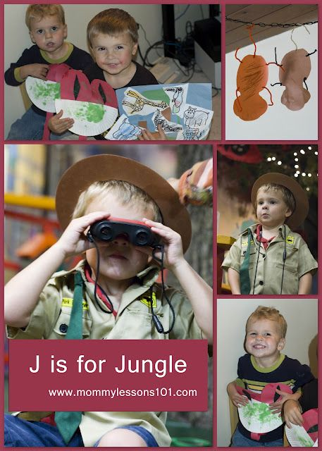 J is for Jungle preschool theme