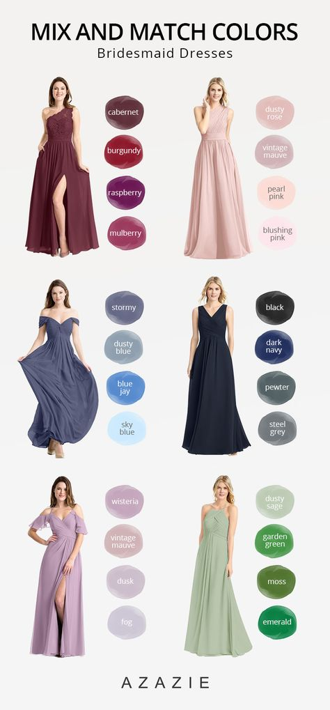 Shop the Mix and Match bridesmaid dresses in 400+ styles at Azazie. No matter your wedding style, the perfect mix & match bridesmaid dresses for your bridal party awaits.#azazie #bridesmaiddresses#bridesmaid #bridesmaid