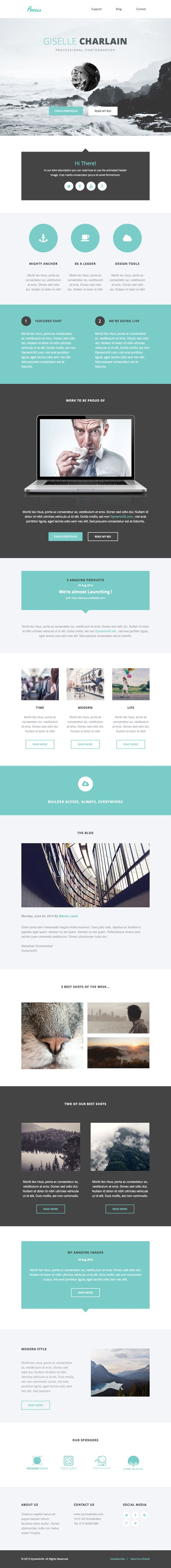 Focus - Responsive Email + Online Template Builder by DynamicXX