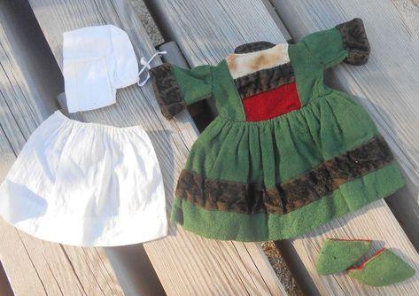 Authentique costume BECASSINE G.L pour BLEUETTE époque 1917-1920 !