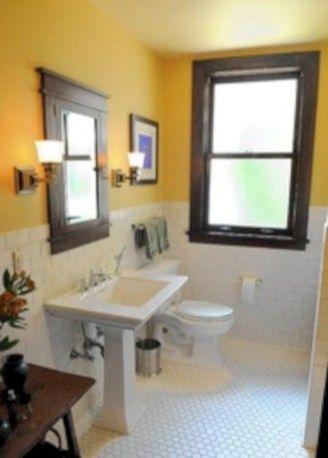 50 Yellow Tile Bathroom Paint Colors Ideas Craftsman Style Bathrooms Bungalow Bathroom Craftsman Bathroom