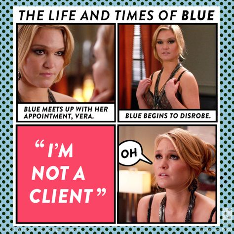 Blue certainly gets herself into some awkward situations. Watch both seasons on youtube.com/wigs. #watchwigs