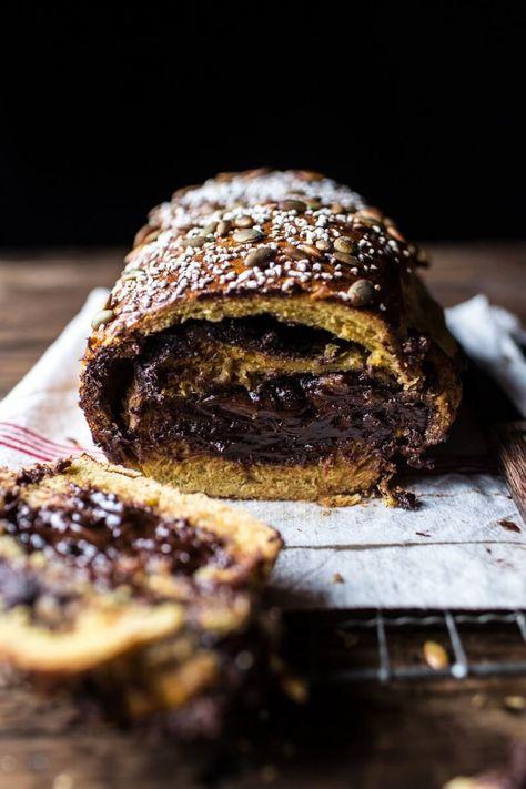 Chocolate Cinnamon Swirl Pumpkin Brioche Bread | HBH