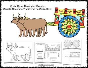 Costa Rican Decorated Oxcarts Carreta Tradicional De Costa Rica