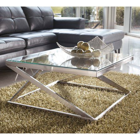 Home Square Glass Coffee Table Coffee Table Square
