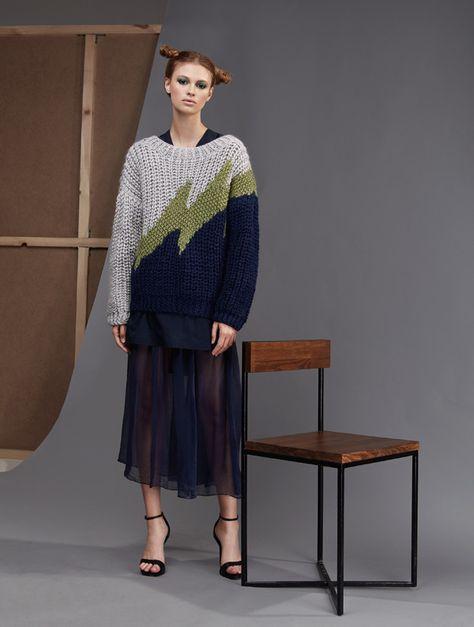 Beige Fringe Detail Knitted Sweater | Sweaters women
