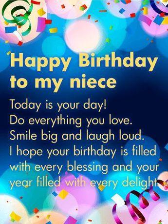 260 Niece Birthday Ideas In 2021 Niece Birthday Happy Birthday Niece Niece Birthday Wishes