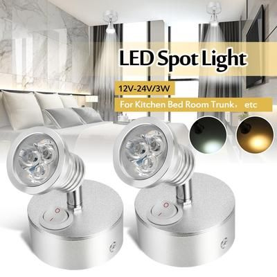 2pcs 12v 24v 3w Led Wall Spot Light Di 2020
