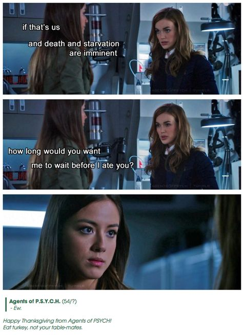 Ew || Jemma Simmons, Skye || Agents of PSYCH || #humor #fanedit #crossover