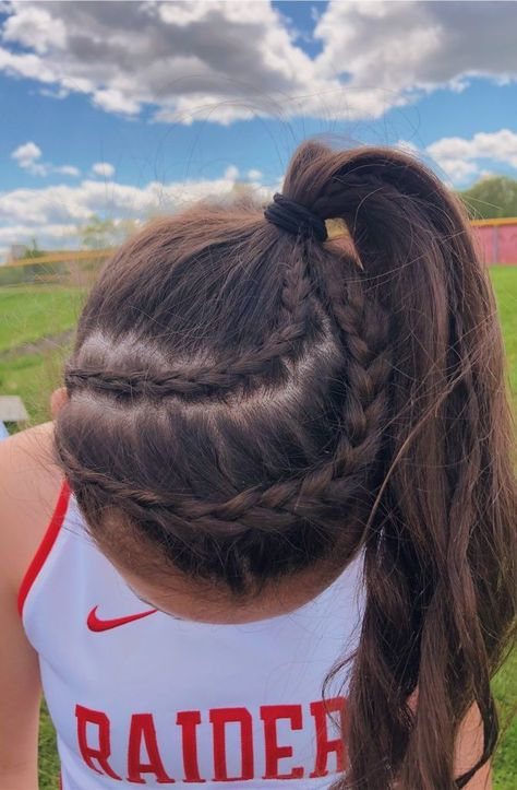 VSCO - emilyguz - Images The Effective Pictures We Offer You About Volleyball Hairstyles popular hai Track Hairstyles, Athletic Hairstyles, Softball Hairstyles, Messy Hairstyles, Princess Hairstyles, Wedding Hairstyles, Cute Sporty Hairstyles, School Hairstyles, Everyday Hairstyles