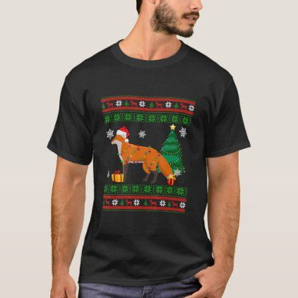 Xm Halloween 2020 Cute Fox Christmas Sweater Decoration Santa Hat Xm | Zazzle.in