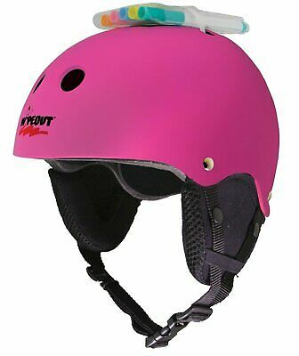 Details About Triple 8 Wipeout Youth Snow Helmet Neon Pink Glossy