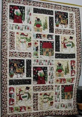 Christmas Quilting Fabric 2020 How to Make a Christmas Panel Quilt   Now that Christmas has