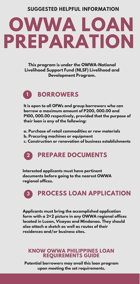 owwa philippines loan OWWA Benefits Guide Pinterest Philippines - dmv application form