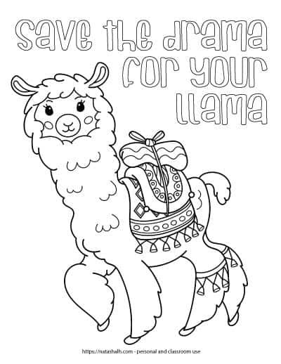 Ridiculously Cute Llama Coloring Pages For Kids Teens Free Printable Coloring Sheets Happy Birthday Coloring Pages Cool Coloring Pages