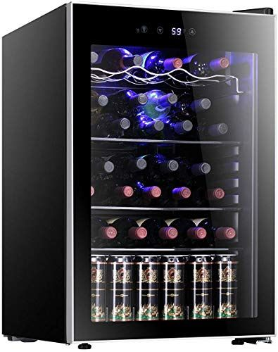 Enjoy Exclusive For Antarctic Star 36 Bottle Wine Cooler Cabinet Beveragerefrigerator Small Mini Red White Wine Cellar Beer Soda Counter Top Bar Fridge Quiet In 2020 Bar Fridges Tall Wine