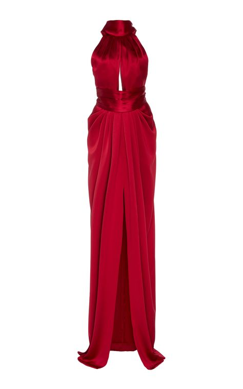 Get inspired and discover Naeem Khan trunkshow! Shop the latest Naeem Khan collection at Moda Operandi. Silk Gown, Chiffon Gown, Silk Satin, Satin Gown, Red Silk, Draped Dress, Lace Dress, Dress Up, Naeem Khan