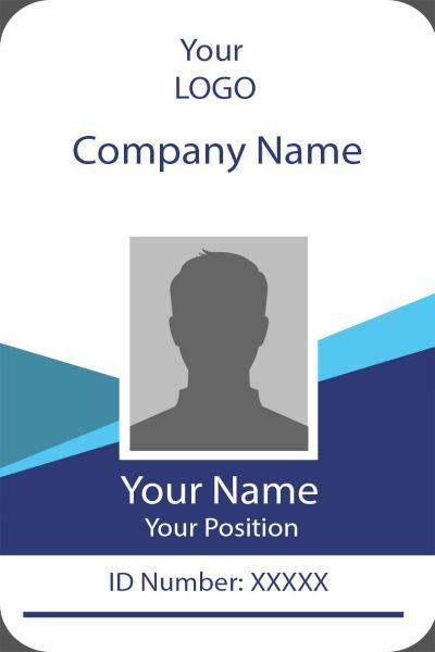 Id Card Twelve Front Id Card Template Identity Card Design Employee Id Card