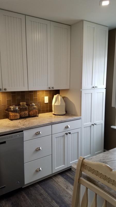 Beadboard Kitchen Cabinets Home Depot American Woodmark 14 9/16x14 1/2 in. CabiDoor Sample in