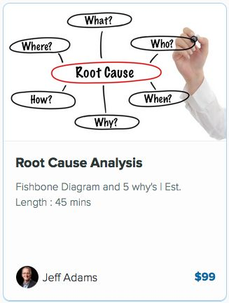 Check out this great course on Root Cause Analysis and learn - root cause analysis