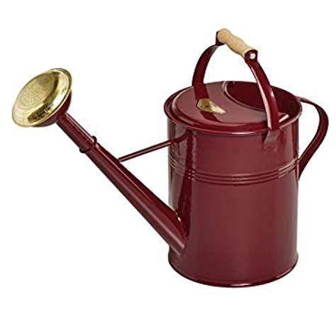 Giesskanne British Can Traditional 9 Liter In Dunkelrot Amazon De Garten Giesskanne Zinkgiesskanne Metall Giesskanne