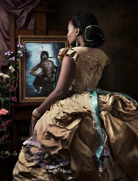 Madame Beauvoir's Painting, 2016 Photography Archival pigment print on hot press bright paper Image Size 24 x 31 in, x 50 in Paper Size 26 x 33 in, x 52 in border) from an edition of 5 © Fabiola Jean-Louis African American Art, African Art, African History, Haiti, Pin Up, Chica Anime Manga, My Black Is Beautiful, Beautiful Images, Black Artists