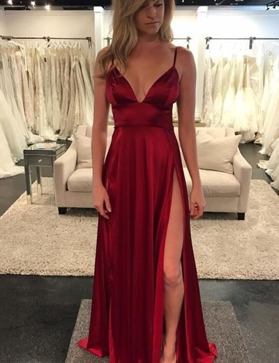 8a4656c11c 2018 New Arrival Charming Floor-length Sexy V-neck Backless ...