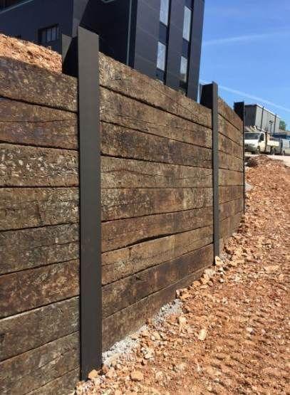 Best Yard Wall Design Railway Sleepers 54 Ideas Yard Landscaping Retaining Walls Garden Retaining Wall Fence Design
