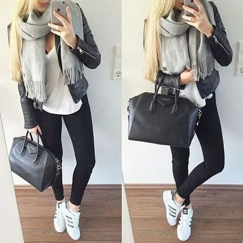looks con adidas superstar blancas