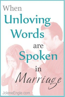 Unloving words will tear any marriage down, but what's a wife to do when the unkind, rude and harsh words are spoken to her by her husband? This is what one wife is dealing with in her marriage. Click to hear my response. [display_podcast] When Unloving Words are Spoken in Marriage New to Podcasts? They're [...]