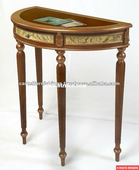 Half Moon Wall Table / Malaysia Other Wood Furniture For Sale