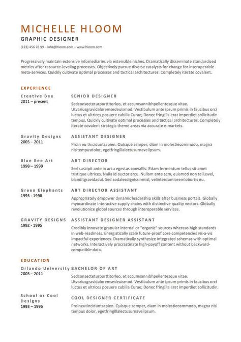 Professional and Modern Resume Template for Word and Pages - art director cover letter