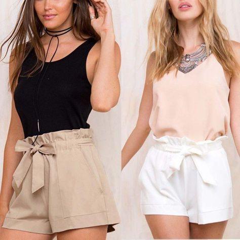 Plus Size S Xxl Women High Waist Shorts Ruffle With Belt Short Pant Loose Shorts Fashion Loose Shorts Outfit Short Pants Outfit