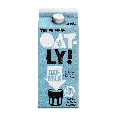 Oatly Original Oat Milk 0 5gal In 2020 Oat Milk Oats Creamer Recipe