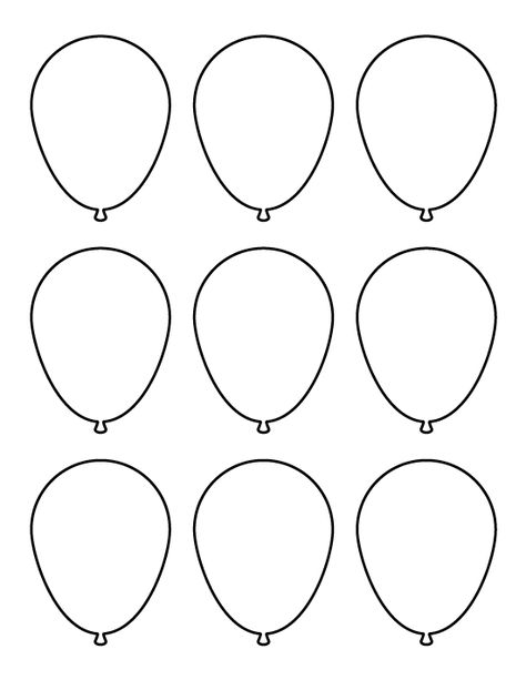 photo relating to Balloon Template Printable titled Pinterest