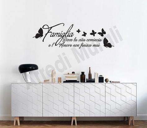 Dove Comprare Stickers Murali.Adesivi Murali Frase Famiglia Decorazioni Arredo Ws1426