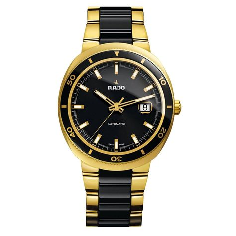 295976e14 Rado Men's R15961162 D Star Two-Tone Stainless Steel Watch