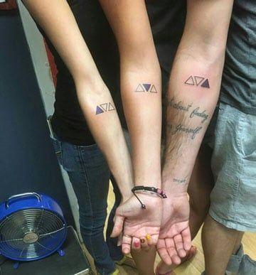 Tatuajes para 3 hermanos y de union familiar y sangre