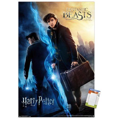 The Wizarding World Harry Potter And Fantastic Beasts Premium Poster And Poster Mount Bundle Walmart Com In 2021 Harry Potter Movie Posters Harry Potter Fantastic Beasts Harry Potter Movies