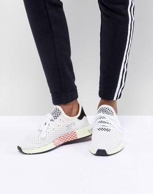halpa erilaisia tyylejä varastossa adidas Originals Deerupt Runner Sneakers In White And Yellow ...