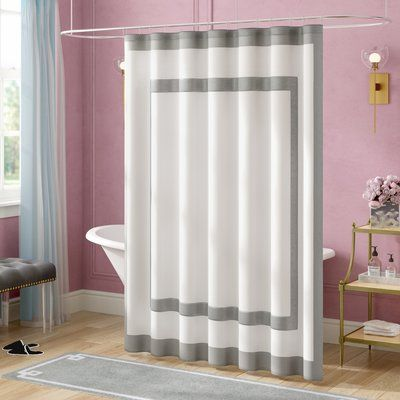 Willa Arlo Interiors Cohle Cotton Single Shower Curtain Silver