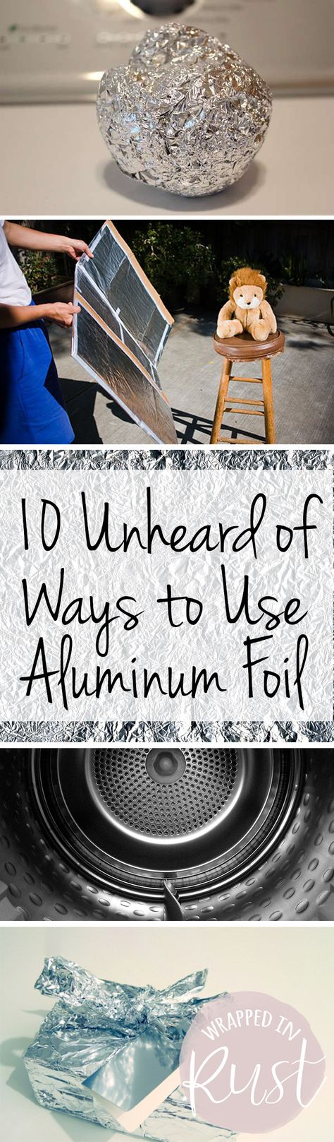 How to Use Aluminum Foil, Uses for Aluminum Foil, Things to Do With Aluminum Foil, Cleaning Tips and Tricks, Aluminum Foil, Life Hacks, Cleaning Hacks, Easy Cleaning Tips and Tricks, Popular Pin.