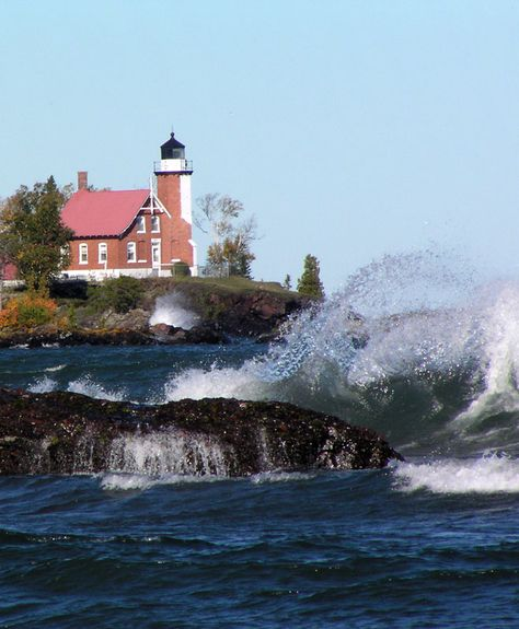 Eagle Harbor Lighthouse, Michigan. Michigan shores. Great Lake state. Upper peninsula.