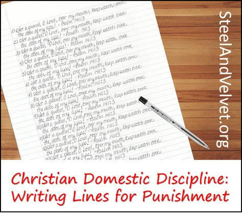 Writing Lines for Punishment in Christian Domestic