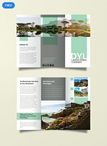 Free Landscape Company Brochure Template Word Doc Psd Indesign Apple Mac Apple Mac Pages Publisher Illustrator Brochure Design Layout Travel Brochure Design Graphic Design Brochure