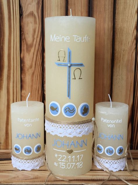 Individuelle Kerzengestaltung Stumpenkerzen Kerzen Taufkerze