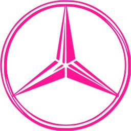 Deep Pink Mercedes Benz Icon Free Deep Pink Car Logo Icons Car Logos Mercedes Logo Pink Car