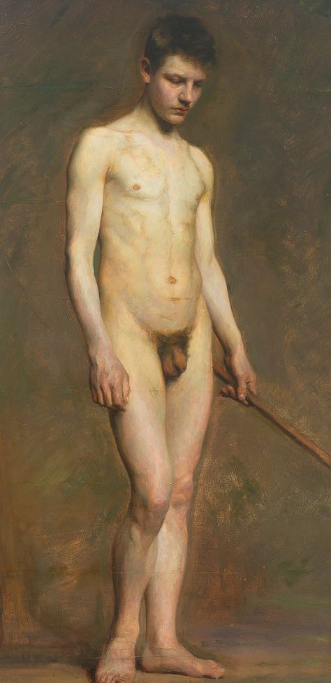 Standing nude young man (c.1900), Artist Unknown